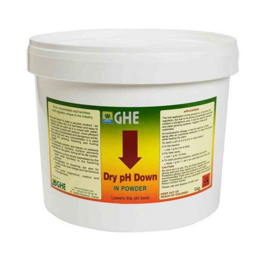 Grow Pflanzen Dünger GHE pH Down, Pulver, 5 kg