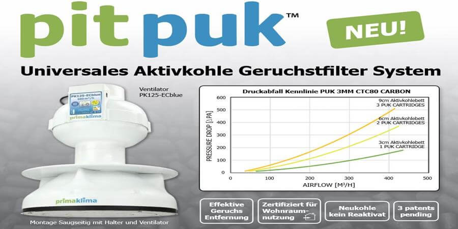 Prima Klima PITPUK Aktivkohlefilter System